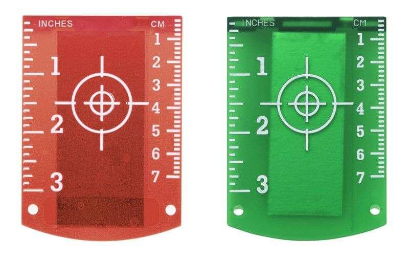 мишень для нивелира красного и зелёного цвета